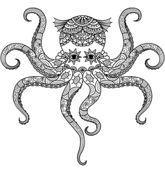 Octopus coloring vector