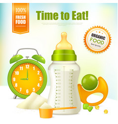 organic baby food background vector image