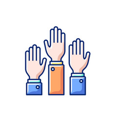 Participation rgb color icon vector