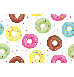 pattern sweet colorful donuts vector image