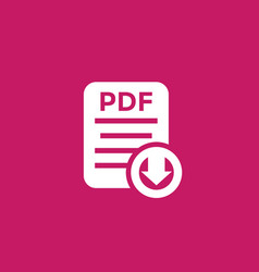 pdf document download icon vector image