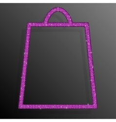 Pink Sequins Shopping Bag Glitter Sale offer vector