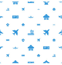 Plane icons pattern seamless white background vector