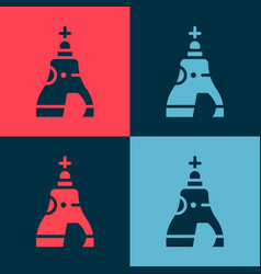 Pop art the tsar bell in moscow monument icon vector
