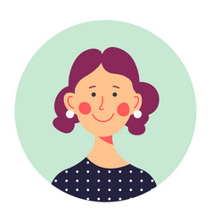 Portrait cheerful adult woman in middle age vector