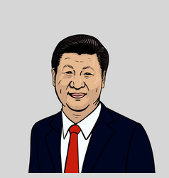 Portrait of xi jinping vector