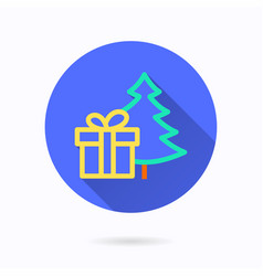 presents box and christmas tree icon for graphic vector image