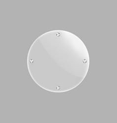 round blank glass plate isolated icon vector image