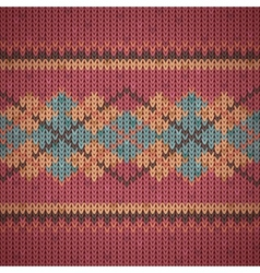 Seamless knitting background pattern vector