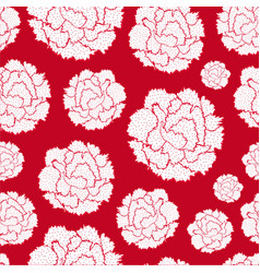 Seamless pattern of carnations vector