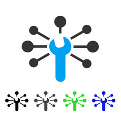 Service wrench relations flat icon vector