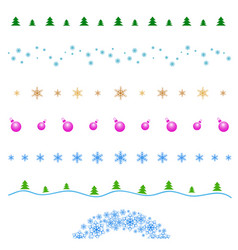 Set line border design element merry vector