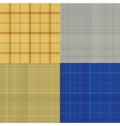 set seamless sacking texture vector image