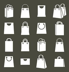 Shopping back icons set shopping theme simplistic vector image
