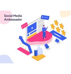 Social media ambassador isometric modern flat vector