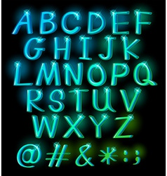 Sparkling big letters vector