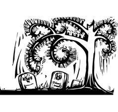Spiral Tree Grave vector