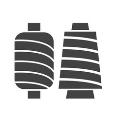 spools of thread vector image