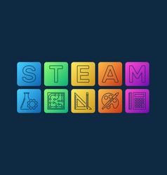 Steam colorful modern on dark vector