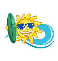surfer sun icon vector image