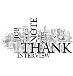 thank you notes an integral part of text vector image