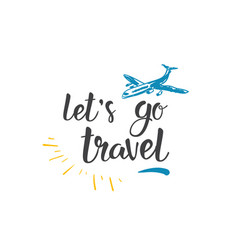 Traveling quote hand drawn icon world tour vector