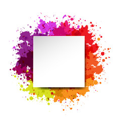 Watercolor blot and banner white background vector