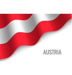 Waving flag with copyspace vector
