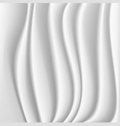 Wavy silk abstract background white vector