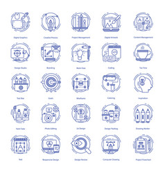 Web design icons set vector