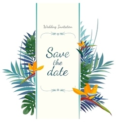 wedding invitation card save date vector image