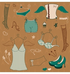 Woman clothes set vector