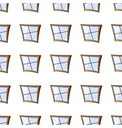 building windows seamless vector image vector image