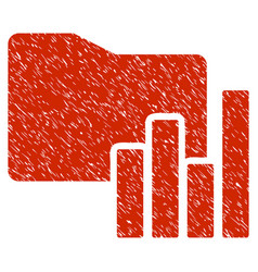 Charts folder grunge icon vector