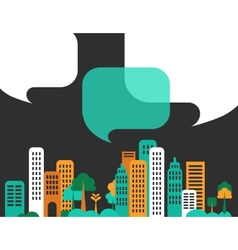 City talks buildings vector image vector image