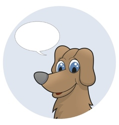 Cute cartoon puppy with speech bubble vector image