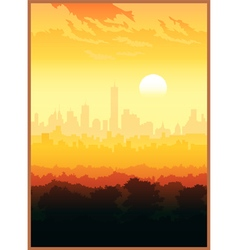 scenic view of the city vector image