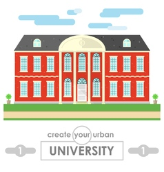 university building flat design vector image