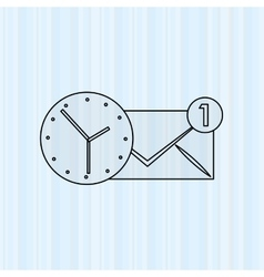 business time design vector image vector image