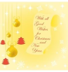 Christmas and New Year vector image