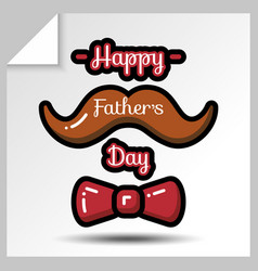 fathers day icons 10 vector image