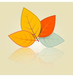 Leaves Set in Retro Style vector image vector image