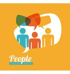 people speech vector image