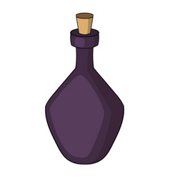 round alcohol bottle icon cartoon style vector image