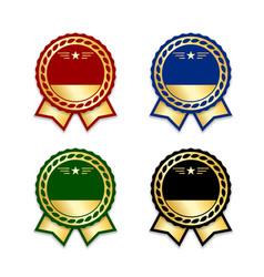award ribbon the best set vector image