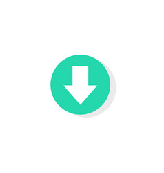 download button round or circle shaped vector image
