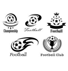 Football and soccer emblems or badges vector