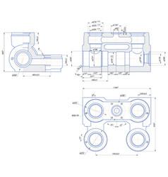 Hydraulic unit of the piston pump vector