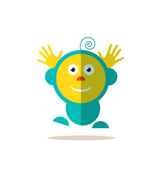 jumping baby funky flat avatar isolated vector image vector image