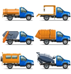 Lorry Icons Set 5 vector image vector image